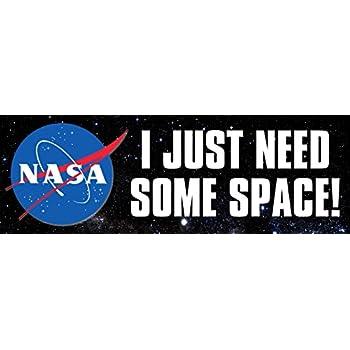 Space Logo Decal American Vinyl White NASA Worm Lettere Adesivo