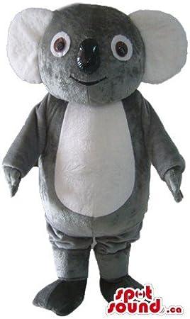 Disfraz de Oso de Koala de Color Gris Claro SpotSound Mascot US ...
