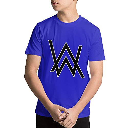 Youth Alan Walker Logo Teenage Boys Teens Custom T-Shirt, Fashion Shirt for Boys and Girls Blue