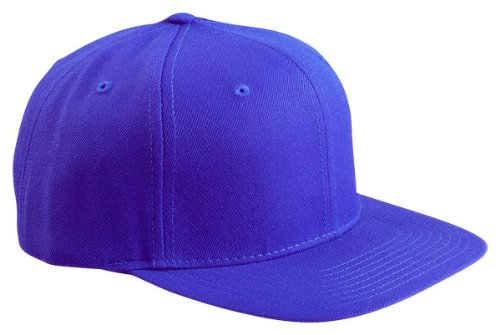 (Yupoong 6-Panel Structured Flat Visor Classic Snapback, ROYAL, One Size )
