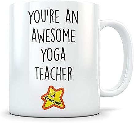 Taza de regalo para profesor de yoga o profesor de yoga ...
