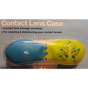 Walgreens Bird and Tree Pattern Contact Lens case Holder Travel Edition Bright Colored Case Letters Marked R and L Individually packed