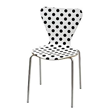 Licence Officielle Stuhl Design Mit Weißen Punkten Oder Schwarzen