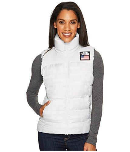 The North Face International Collection Nuptse Vest Vaporous Grey Flag Print Women's Vest (Print The Face North Vest)