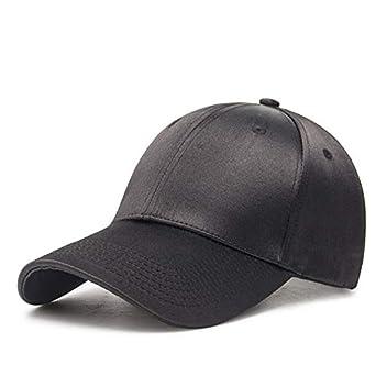 34dd77351dc AETRENDS Gold Satin Surface Baseball Cap Women Men s Cap Outdoor Sport Caps  (Black)