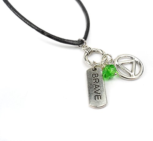 - Alcohol Addiction Charm Necklace, Birthstone Addiction Recovery Gifts, Boho Style AA Rehab Jewelry