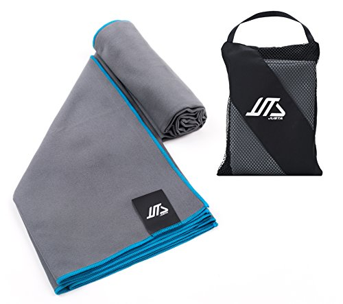JUSTA Sport Towel and Travel Towel - Super Absorbent and Quick Drying, Perfect for Camping, Beach, Pool, Gym or Bath