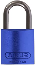 ABUS 72/40 KD Safety Lockout Aluminum Keyed Different Padlock with 1-Inch shackle, Blue