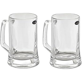 Amlong Crystal Lead Free Beer Mug - 14 oz, Set of 2