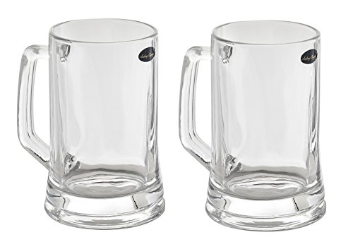 Amlong Crystal Lead Free Beer Mug - 14 oz, Set of 2