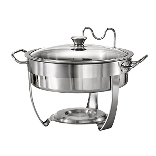 Stainless Steel Round Chafing Dish - Tramontina 80205/531DS Gourmet Selection Stainless Steel Round Chafing Dish, 4.5-Quart, Made in Brazil