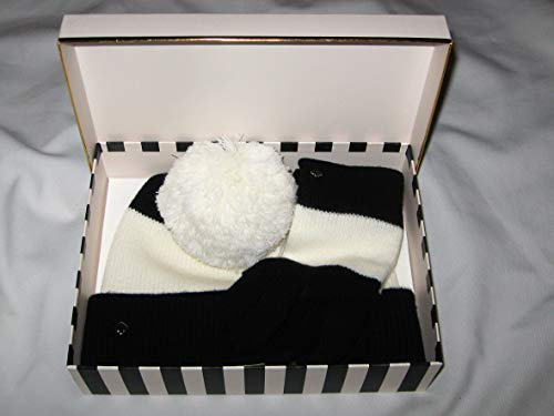 Kate Spade Beanie and Glove Set - Black and White