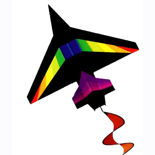 4ft-2d-black-rainbow-jet-kite-easy-flyer-and-ready-to-fly
