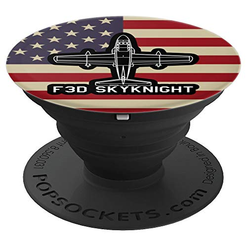 F3D Skyknight Jet Fighter Plane Classic USA Warplane Gift PopSockets Grip and Stand for Phones and Tablets (Best Fighter Jet Game Iphone)