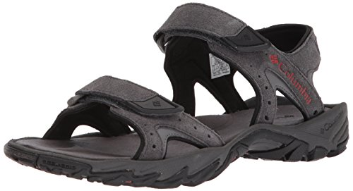 Columbia Men's SANTIAM 2 Strap Sport Sandal, Dark Grey, Rusty, 11 Regular US