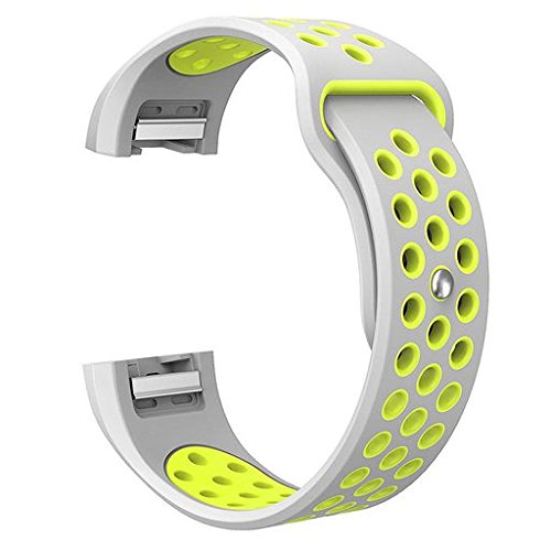 Oucan For Fitbit Charge 2 BK Bands, 3 Pack Silicone Breathable Wristbands for Fitbit Charge 2 BK Bracelet (No Tracker)