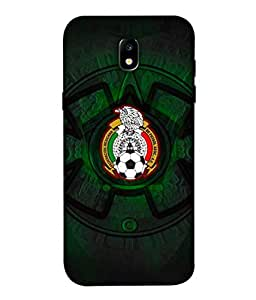 ColorKing Football Mexico 08 Black shell case cover for Samsung J5 Pro 2017