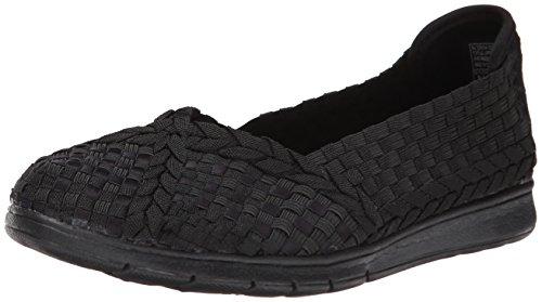 BOBS von Skechers Damen Pureflex Fashion Slip-On Flat Schwarz Schwarz