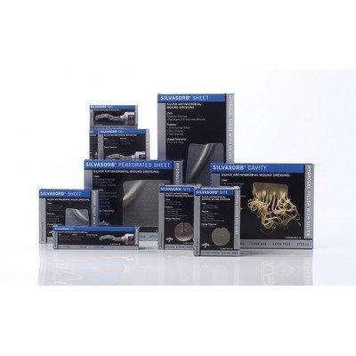 Medline Industries MSC9322EPZ SilvaSorb Sheet Dressings, 2