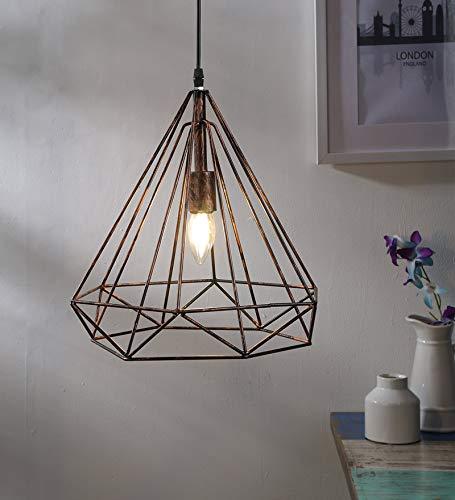 GreyWings Hanging Light, Antique Bronze, Diamond