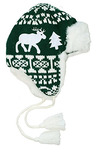 Holiday Reindeer Hat in Green By Festified