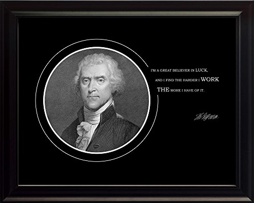 Thomas Jefferson Photo Picture Poster Framed Quote
