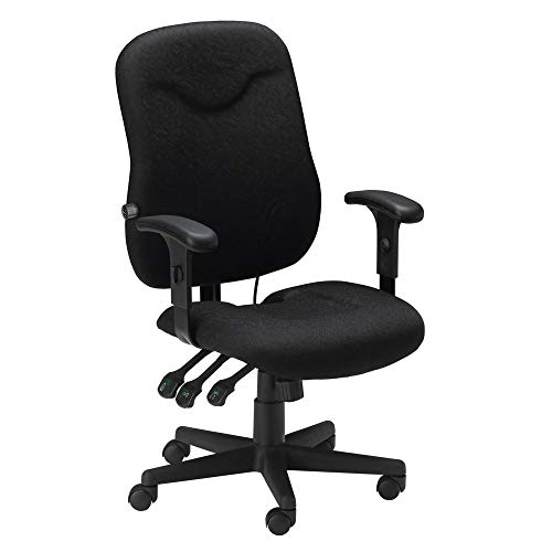 Mayline 9414AG2113 Comfort Serires Executive Posture Chair with T-Pad Arms, Black