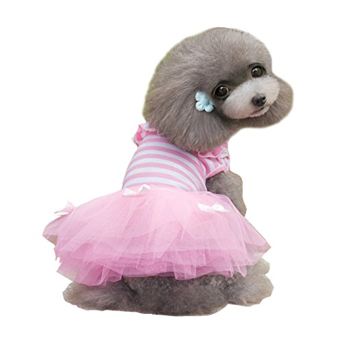 Alroman Dog Dresses Pets Clothes Pink Pet Dresses Doggie Skirt Puppy Clothes Dog Clothes Puppy Apparel Cat Dresses Dog (Cute Pugs In Costumes)