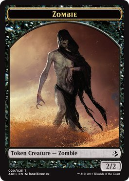 - Zombie Token - Amonkhet