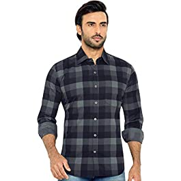 Buy GLOBALRANG Men's Checkered Casual Stylish Shirt India 2021