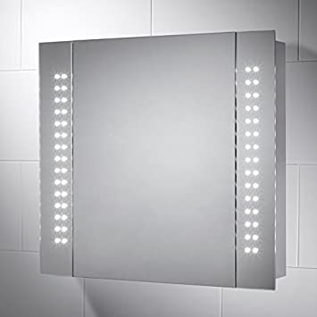 Pebble Grey Kinsley LED Illuminated Battery Operated Bathroom