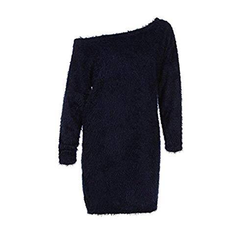 Pullover Camicetta Puro Lunghe Camicia Comodo Blau Colore Abiti Morbidi Off Primaverile Abbigliamento Doona 1 Autunno Maniche Pullover Lunga Bluse Eleganti Lunga Shoulder rpqUrw