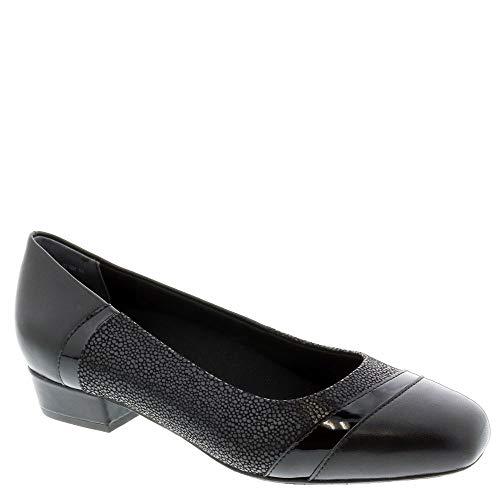 Ros Hommerson Tango 74033 Woman's Dress Shoe : Black/Lizard 10 Wide (D) Slip-On