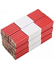Hainice Carpenters Pencil Octagonal Flat Bright Red Tool for Woodworking Construction Work Builders Jointers 72PCS