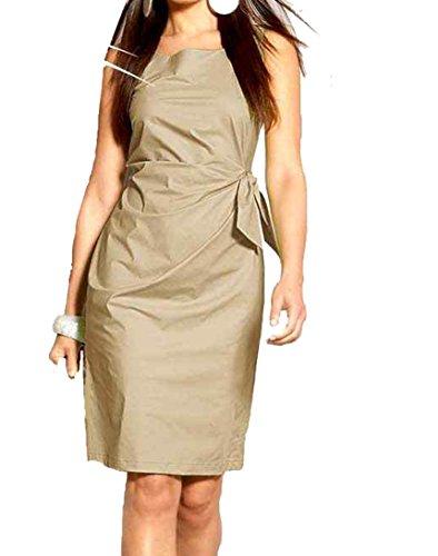 Apart Mujer de vestido vestido con Liedeco erungen Beige bambú