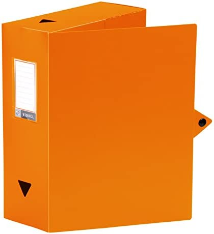 Viquel Class Doc Bo/îte De Classement en polypro dos 100 mm Orange