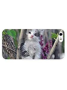 3d Full Wrap Case for iPhone 5/5s Animal Kitten In The Tree