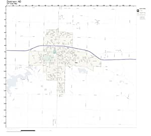 Zip code wall map of dickinson nd zip code map laminated for Jewelry store dickinson nd