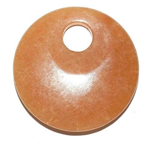 Red Aventurine Go-Go Donut Round 45mm Natural Gemstone Focal Pendant - Pendant 45mm Donut