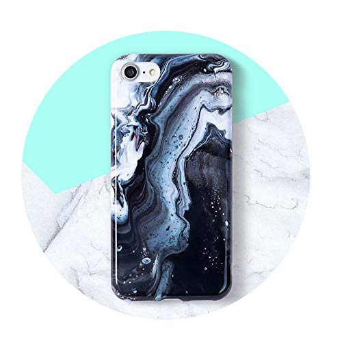 Case Glossy Soft Back Cover for iPhone Black Ink for iPhone 6 Plus