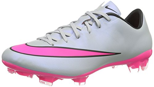 Nike Men's Mercurial Veloce II FG Wolf Grey/Black/Hyper Pink Shoes - 10