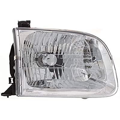 Headlight Assembly Compatible with 2001-2004 Toyota Sequoia/Tundra 2004 Tundra Double Cap Passenger and Driver Side: Automotive