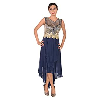 Dekelte Blue Mixed Special Occasion Dress For Women
