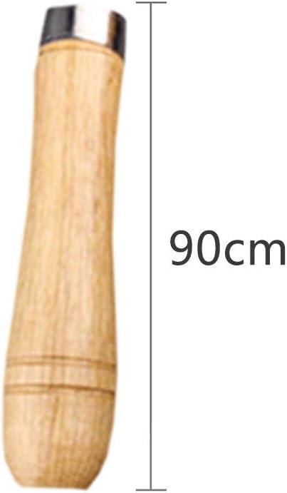 Shuny 15 Pcs Mango de Madera,Mango de Archivo de Madera con Collares Met/áLicos Fuertes,Mango de Madera para Herramienta de Corte de Archivos Craft Adecuada para Limas de 4-6 Pulgadas de Varias Formas