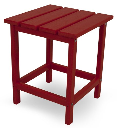 POLYWOOD ECT18SR Long Island 18'' Side Table, Sunset Red by POLYWOOD