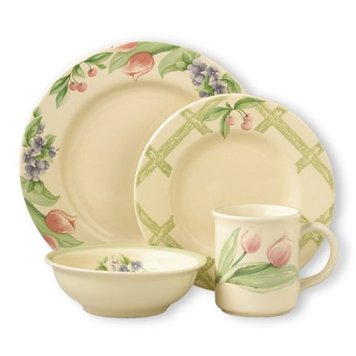 Pfaltzgraff Garden Party 32 Piece Dinnerware Set, Service for 8
