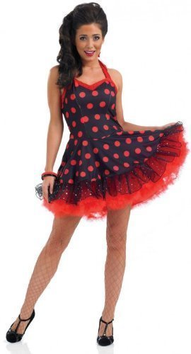 Fun Shack ROCK AND ROLL DRESS Adult Fancy Dress Costume A...