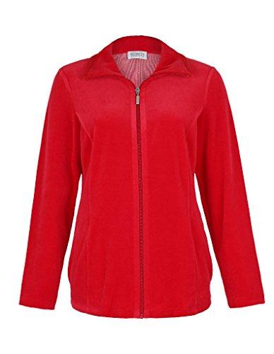 Rosch Homewear Ensemble Haut Manches Longues + Pantalon - Rouge 1889510 44 FR/16 UK