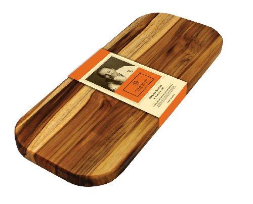 Madeira Mario Batali M-01 Edge Grain Teak Bread Board (Wood Breadboard)