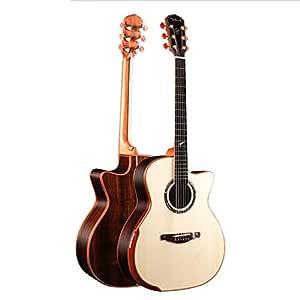 QING.MUSIC Guitar Guitarra acústica Guitarra acústica Hecha a Mano ...
